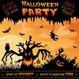 De affiche van Halloween Stock Foto