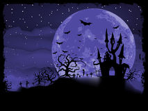 De affiche van Halloween met zombieachtergrond. EPS 8 Stock Afbeelding