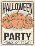 De affiche van Halloween Vector illustratie Stock Foto
