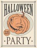 De affiche van Halloween Vector illustratie Stock Afbeeldingen