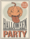 De affiche van Halloween Vector illustratie Royalty-vrije Stock Foto