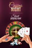 De Affiche van handenspelen stock illustratie