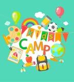 De affiche van het de zomerkamp Royalty-vrije Stock Foto