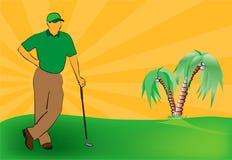 De affiche van het golf royalty-vrije illustratie