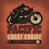 De affiche van het motorfietsavontuur Stock Foto's