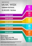 De affiche van het muziekfestival Stock Foto's
