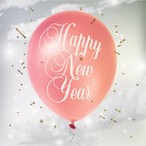 De affiche van het nieuwjaar Stock Foto