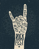 De affiche van het rotsfestival, vlieger Stock Foto