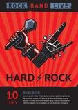 De affiche van het rotsoverleg Stock Afbeeldingen