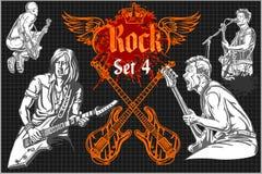 De affiche van het rotsoverleg - de jaren '80 Vector illustratie Stock Afbeelding