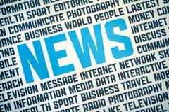 De Affiche van het Teken van het nieuws Royalty-vrije Stock Afbeeldingen