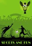 De Affiche van het voetbal Stock Afbeelding