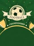 De affiche van het voetbalkampioenschap Sportachtergrond in retro stijl stock illustratie