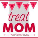 De Affiche van de moeder` s Dag/Teken/Bannerconcept Stock Illustratie