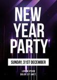 De Affiche van de nieuwjaarpartij Stock Foto
