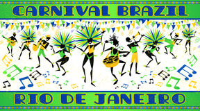 De affiche van Rio Carnaval royalty-vrije illustratie