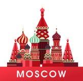 De affiche van Rusland Moskou royalty-vrije illustratie