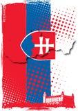 De affiche van Slowakije Stock Foto's
