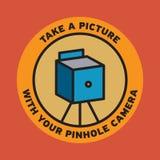 De affiche van de speldeprikcamera Stock Foto's