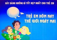 De affiche van Vietnam stock afbeelding