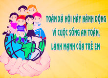 De affiche van Vietnam royalty-vrije stock foto's