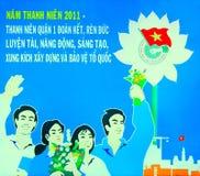De affiche van Vietnam royalty-vrije stock foto