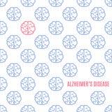 De affiche van de ziektehersenen van Alzheimer ` s stock illustratie