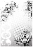 De afficheachtergrond 1 van het voetbal stock illustratie