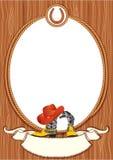 De afficheachtergrond van de cowboy Stock Foto's