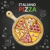 De afficheachtergrond van de Italianopizza royalty-vrije illustratie
