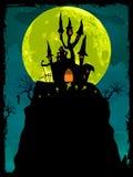 De afficheachtergrond van Halloween. EPS 8 Royalty-vrije Stock Afbeeldingen