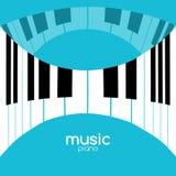 De afficheachtergrond van het muziekfestival Muzikale van de de pianomuziek van het jazzoverleg de koffie promotieaffiche Stock Fotografie