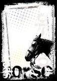 De afficheachtergrond van het paard Royalty-vrije Stock Afbeelding