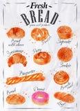 De affichedocument van broodproducten Royalty-vrije Stock Fotografie