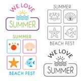 De afficheinzameling van de de zomervakantie stock illustratie