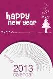 de affichekalender van 2013 Royalty-vrije Stock Foto's