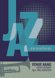 De affichemalplaatje van het jazzfestival Stock Foto