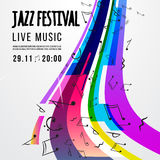 De affichemalplaatje van het jazzfestival Jazz Music saxophone Internationale jazzdag Vector ontwerpelement Royalty-vrije Stock Fotografie
