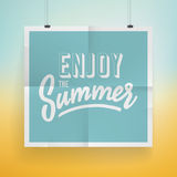 De afficheontwerp van de de zomervakantie Stock Afbeeldingen