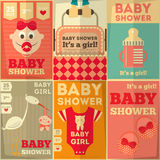 De Affiches van de babydouche Stock Afbeelding
