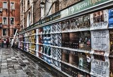 De affiches van Venetië Stock Afbeelding