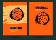 De affichesontwerp van basketbalgrunge Stock Fotografie