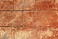 De afgedrukte concrete textuur ter plaatse van de cementbestrating Stock Foto