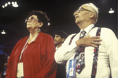 De afgevaardigden reciteren de Belofte van Trouw Stock Foto