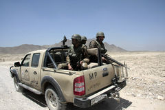 De Afghaanse Militaire politie van het Leger Royalty-vrije Stock Afbeeldingen