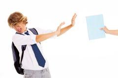 De afkeerstudie van de student Royalty-vrije Stock Fotografie