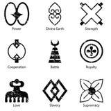 De Afrikaanse Adinkra-Reeks van het Symboolpictogram Royalty-vrije Stock Fotografie