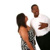 De Afrikaanse Amerikaanse Ex Mens van het Paar Royalty-vrije Stock Afbeeldingen