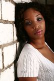 De Afrikaanse Amerikaanse Helling van het Meisje  Stock Fotografie