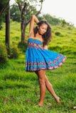 De Afrikaanse Amerikaanse Levensstijl van de vrouw Royalty-vrije Stock Afbeelding